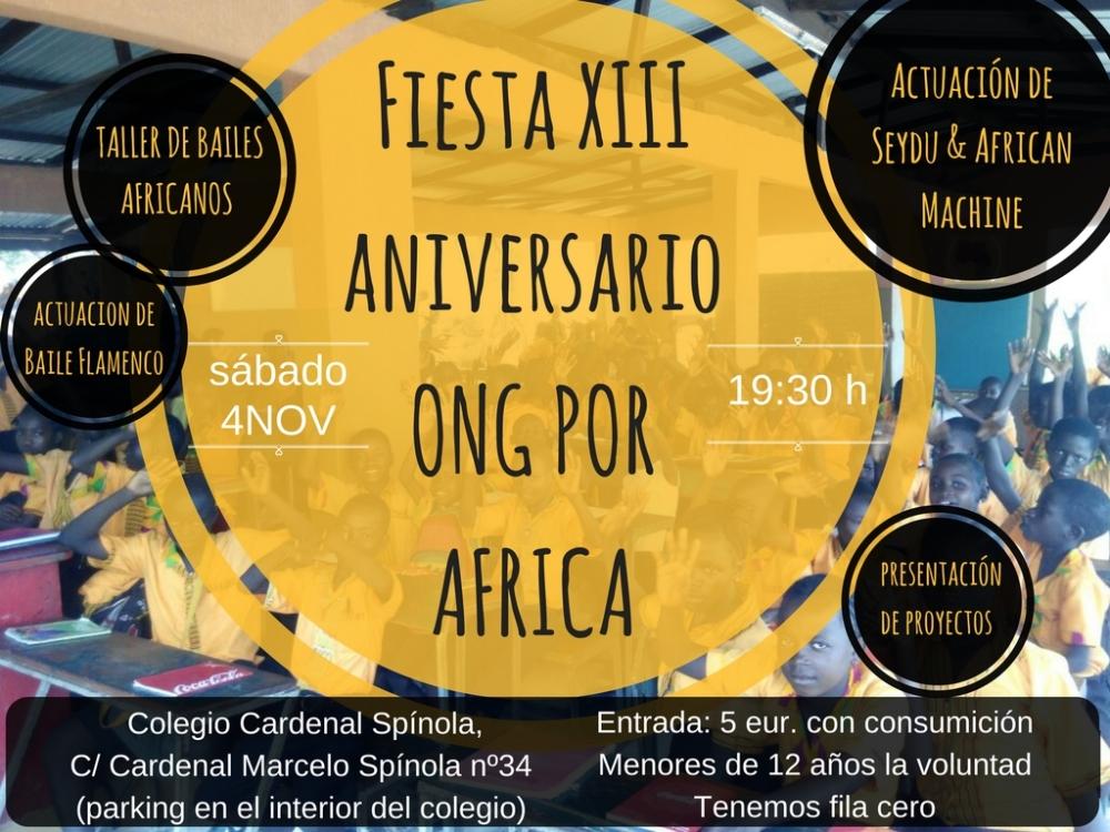 Fiesta XIII aniversario Por Afica ONG
